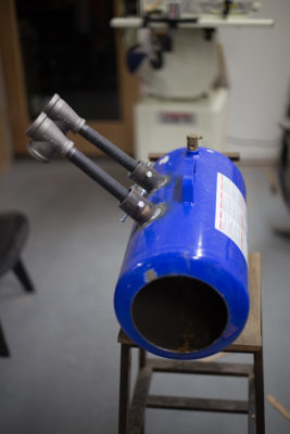 Larger gas forges are great for bigger projects