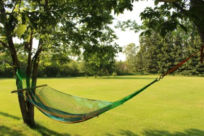 hammock beds can be hung from trees, stands or even posts