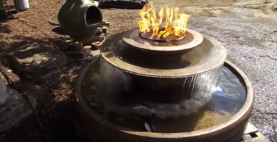 Keeping a fire fountain's pump clean is important for good water flow